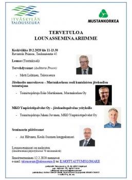 Lounasseminaari 19.2.2020